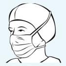 Foliodress mask Comfort Perfect grün - 50 Stk.