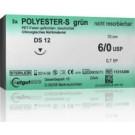 Catgut Polyester - S grün - GR 19 - 3/0 - 70cm - 24 Stk.