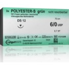 Catgut Polyester - S grün - GR 19 - 4/0 - 70cm - 24 Stk.