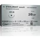 Catgut Stahldraht, monofil - 2xGR38 - 3/0 - 70 cm - 24 Stk.