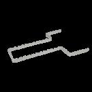 Alu-Normtrayeinsatz für 17 Instrumente